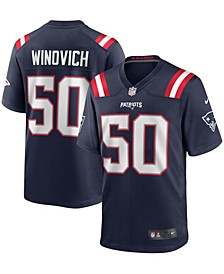 Men's Chase Winovich Navy New England Patriots Game Player Jersey