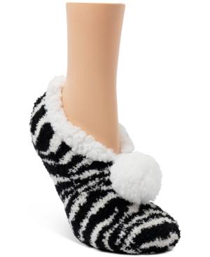 Zebra Ballerina Slipper Socks