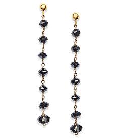 Black Diamond Dangle Drop Earrings in 14k Gold (4 ct. t.w.)