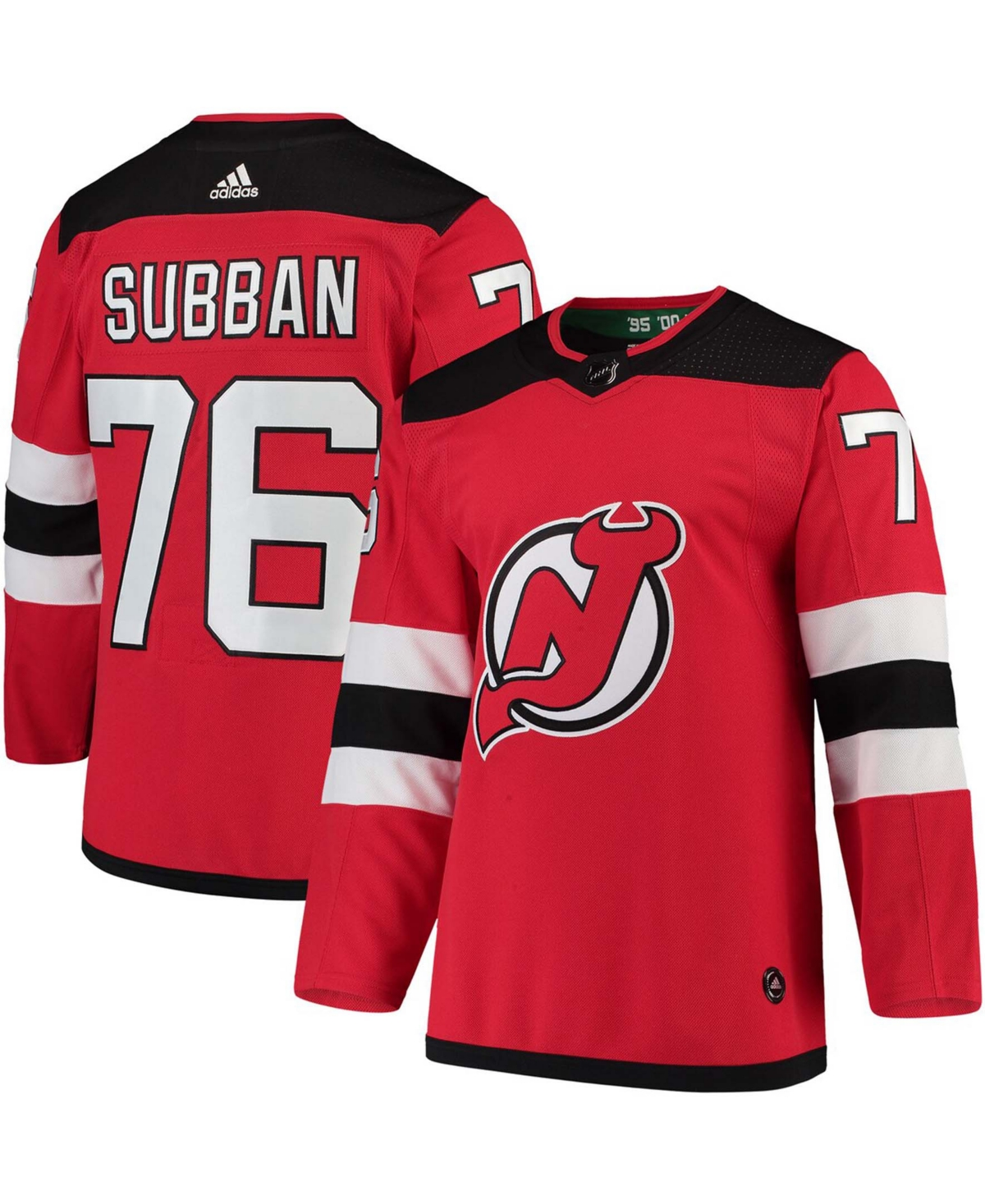 Men's P.k. Subban Red New Jersey Devils Authentic Player Jersey