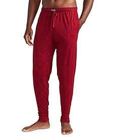 Men's Pattern Print Knit Jogger Pajama Pants