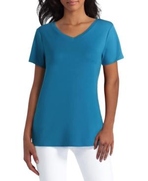 Women's Short Sleeve V-Neck Top