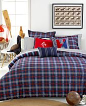 CLOSEOUT! Tommy Hilfiger Boston Plaid Bedding Collection