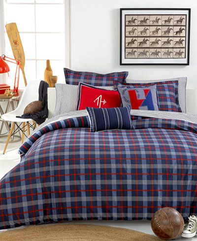 tommy hilfiger boston plaid bedding collection - bedding