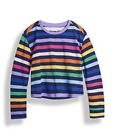 Big Girls Long Sleeve All Over Stripe T-shirt