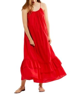 Cotton Tiered Maxi Maternity Dress