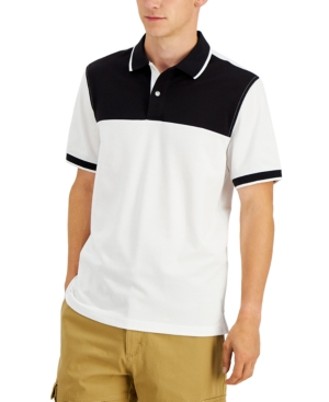 Men's Stretch Colorblocked Polo Shirt