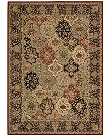 "kathy ireland Home Lumiere Persian Tapestry Multicolor 5'3"" x 7'5"" Area Rug"
