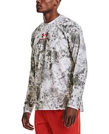 Men's UA Tech™ Performance Logo Graphic Long-Sleeve T-Shirt