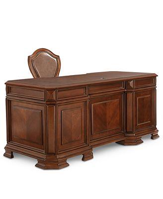 goodwin 2-pc. home office set (executive desk & chair) - furniture