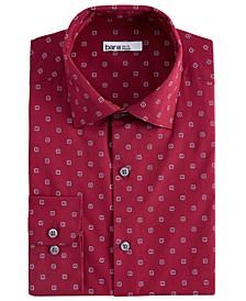 Men's Slim-Fit Medallion-Print Dress Shirt, Created for Macy's