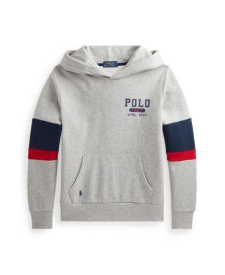 폴로 랄프로렌 Polo Ralph Lauren Big Boys Logo Fleece Hoodie,Andover Heather