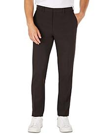 MKTECH Men's Solid Modern-Fit Suit Pants