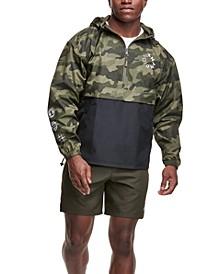 Men's Color Blocked Camo Pullover