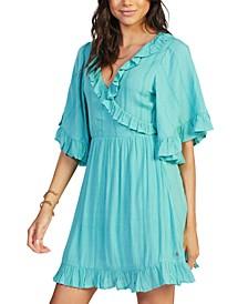 Juniors' Second Look Ruffled Faux-Wrap Dress