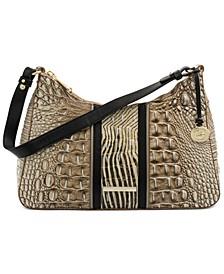 Esme Embossed Leather Shoulder Bag