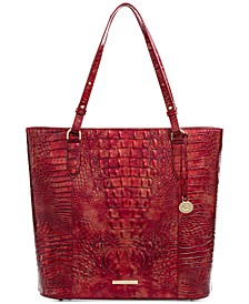 Abigail Melbourne Embossed Leather Tote