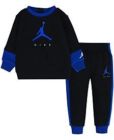 Little Boys Jumpman by Nike Crew Sweatshirt and Pants, 2 Piece Set