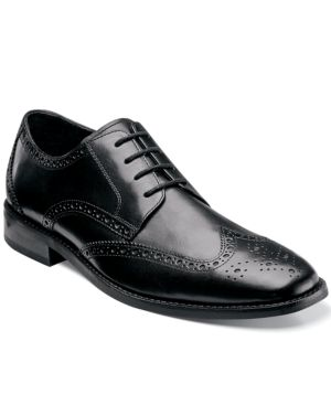 FLORSHEIM Men'S Castellano Wing-Tip Oxfords Men'S Shoes in Black