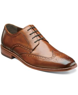 FLORSHEIM Men'S Castellano Wing-Tip Oxfords Men'S Shoes in Saddle Tan