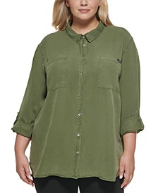 Calvin Klein Trendy Plus Utility Shirt