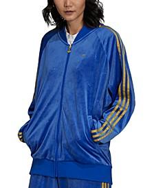 Women's Velvet 3-Stripes Track Jacket