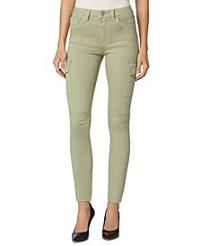 Barbara High-Waist Super-Skinny Ankle Cargo Pants
