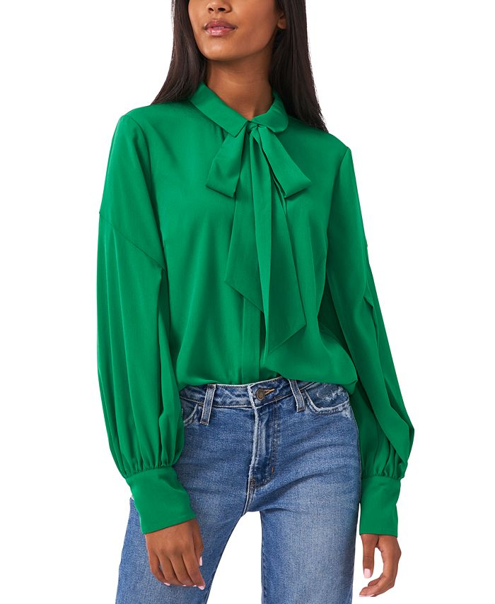 Riley & Rae - Camille Tie-Neck Blouse