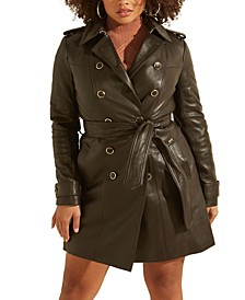 Felicia Leather Double-Breasted Jacket