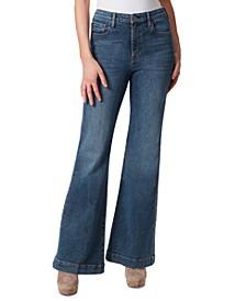 True Love Cotton Flare-Leg Jeans