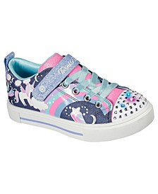 Little Girls Twinkle Sparks Unicorn Charm Stay-Put Light-Up Casual Sneakers from Finish Line