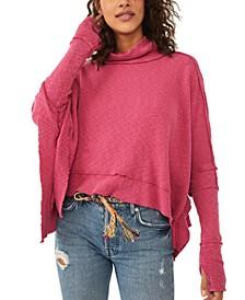Moon Daisy Turtleneck Poncho Sweater