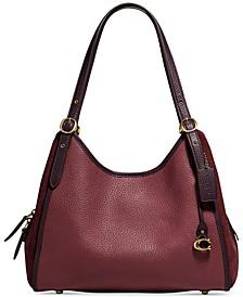 Lori Mixed Leather Shoulder Bag