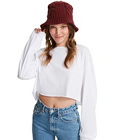 Cable-Knit Bucket Hat