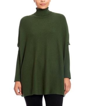 Turtleneck Poncho Sweater