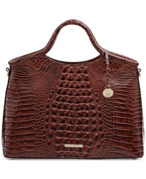 Elaine Melbourne Embossed Leather Satchel