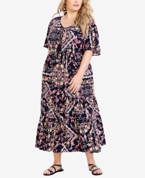 Plus Size Zariah Midi Dress