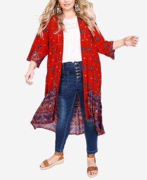 Plus Size Jayla Lace Trim Jacket