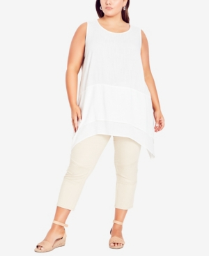 Plus Size Selena Layered Tunic Top