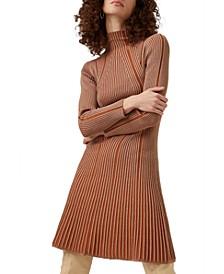 Mari Rib-Knit Dress