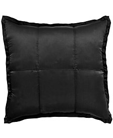 CLOSEOUT! Donna Karan Home Ebony Quilted European Sham