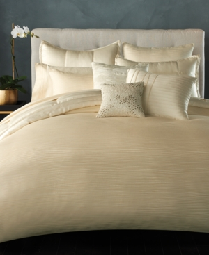 Image of Donna Karan Home Reflection Ivory Full/Queen Quilt Bedding