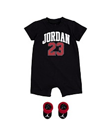 Baby Boys 23 Logo Romper and Booties Set