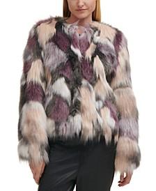 Pieced Faux-Fur Coat
