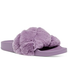 Women's Snooze-Q Quilted Plush Pool Slide Slippers