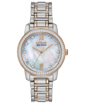 Citizen Women's Eco-Drive Two-Tone Stainless Steel Bracelet Watch 35mm EM0116-55D - A Macy's Exclusive