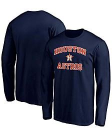 Men's Navy Houston Astros Heart Soul Long Sleeve T-shirt