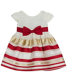 Baby Girls Striped Organza Dress