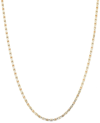 Tri-Tone Valentina Chain Necklace in 14k Gold