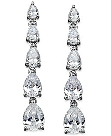Swarovski Zirconia Graduated Linear Earrings in Sterling Silver (8 ct. t.w.)